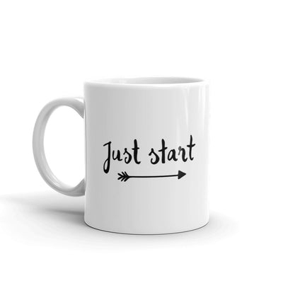 Just Start Motivational Coffee Mug