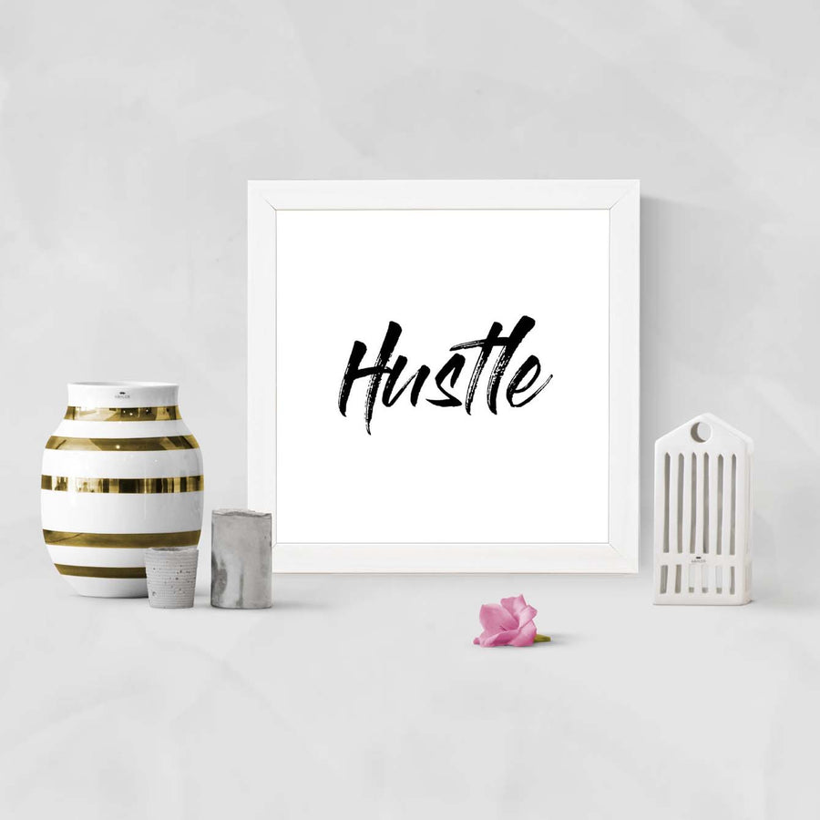 Hustle Framed Poster