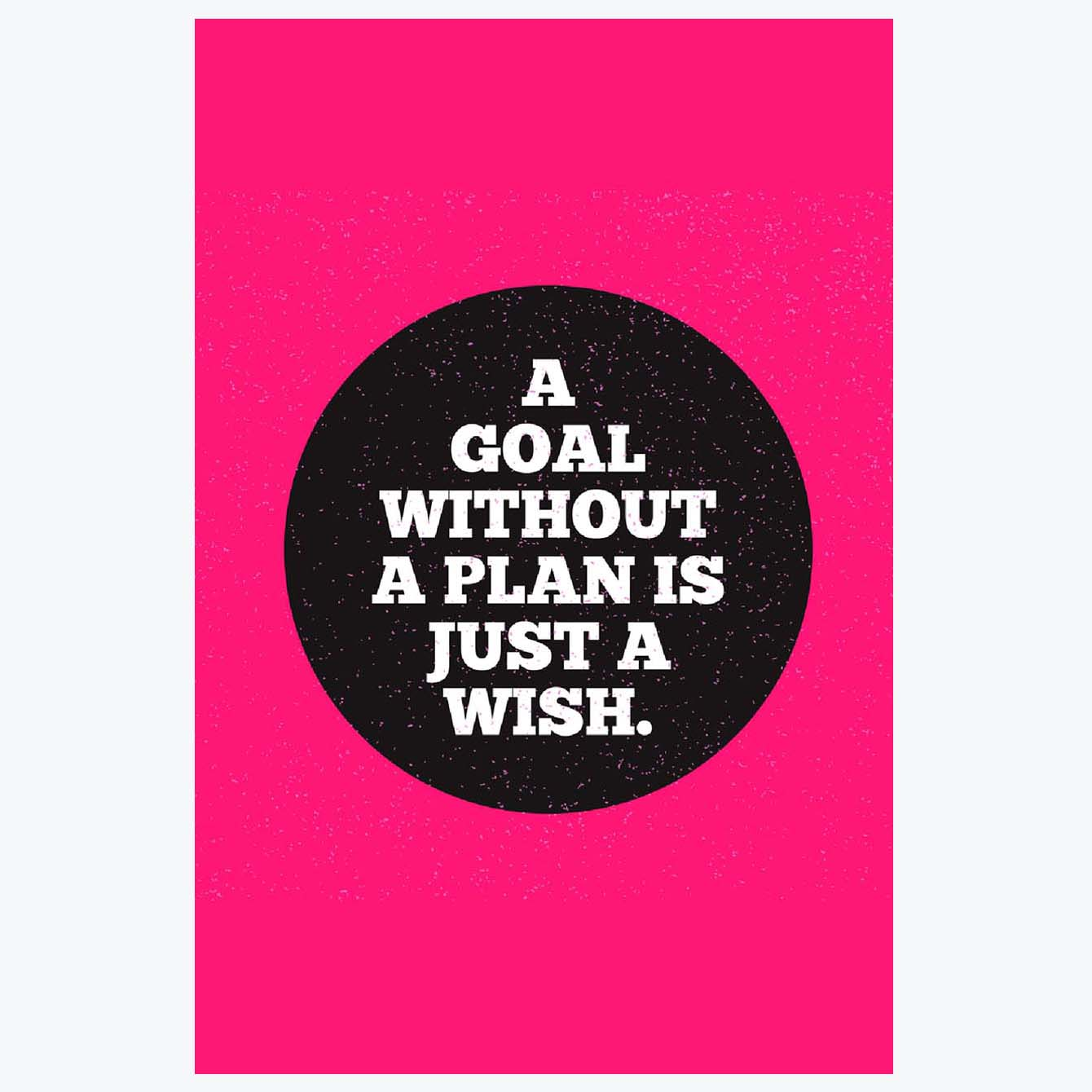 A Goal without a plan is Just a wish Motivational Posters