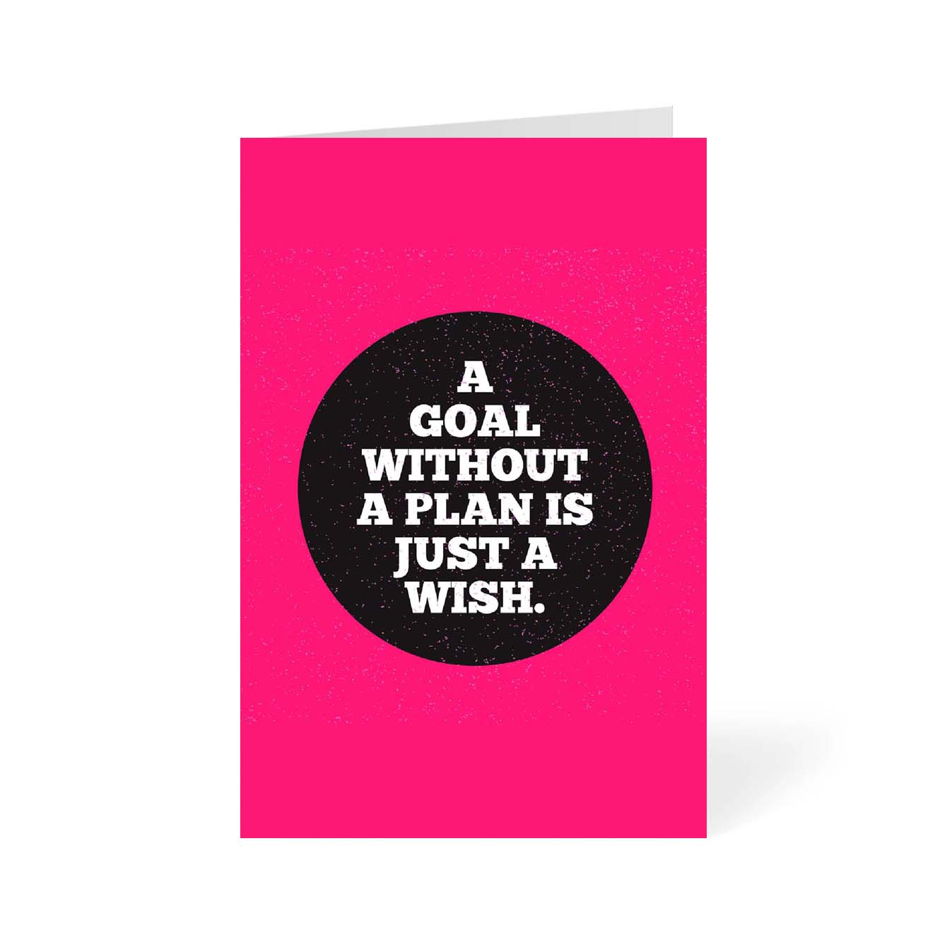 A Goal without a plan is Just a wish Motivational Greeting Card Online
