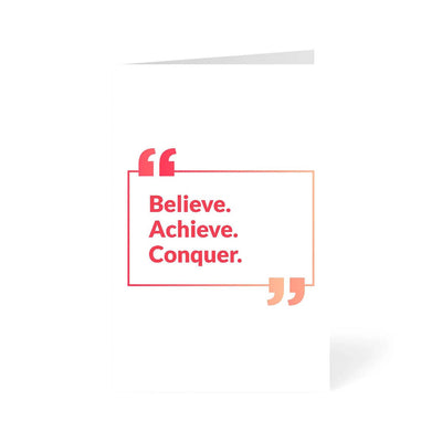 Believe Motivational Greeting Card Online