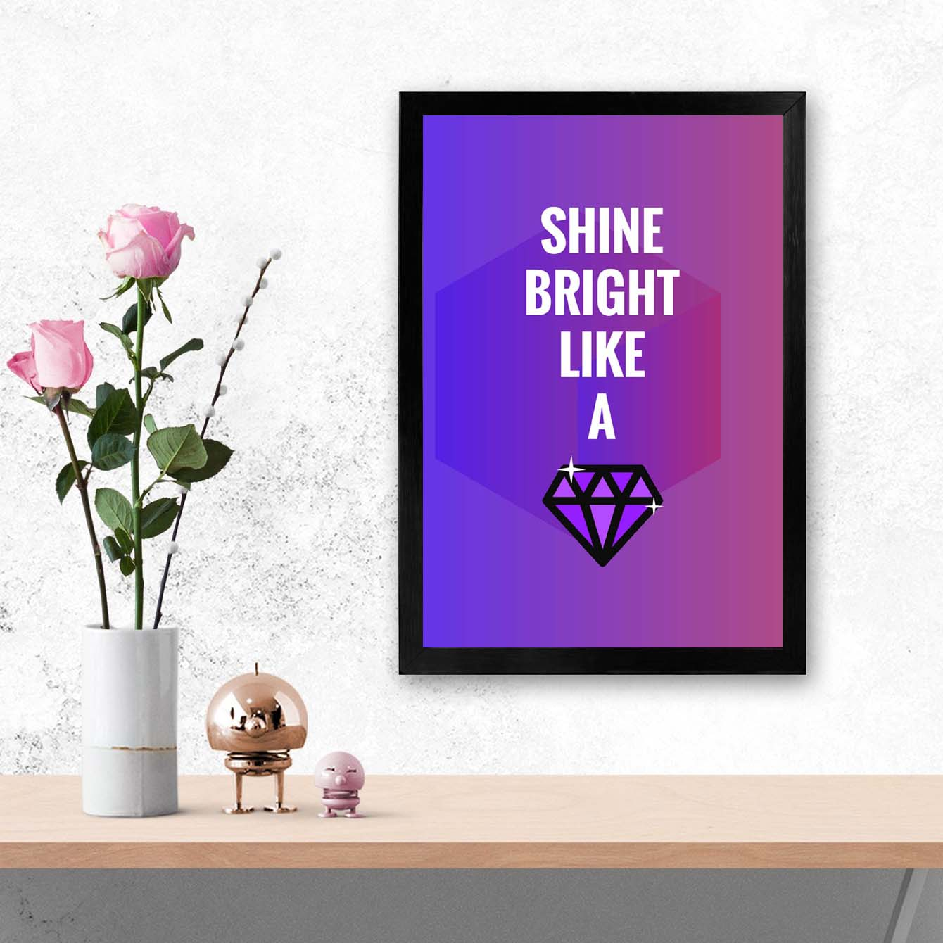 Sine Bright Framed Poster