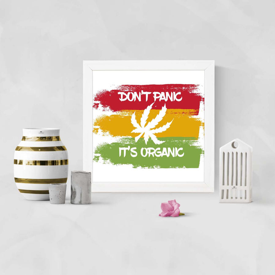 Don't Panic it Organic Framed Poster