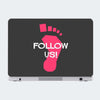 Follow Us Motivational Laptop Skin Online