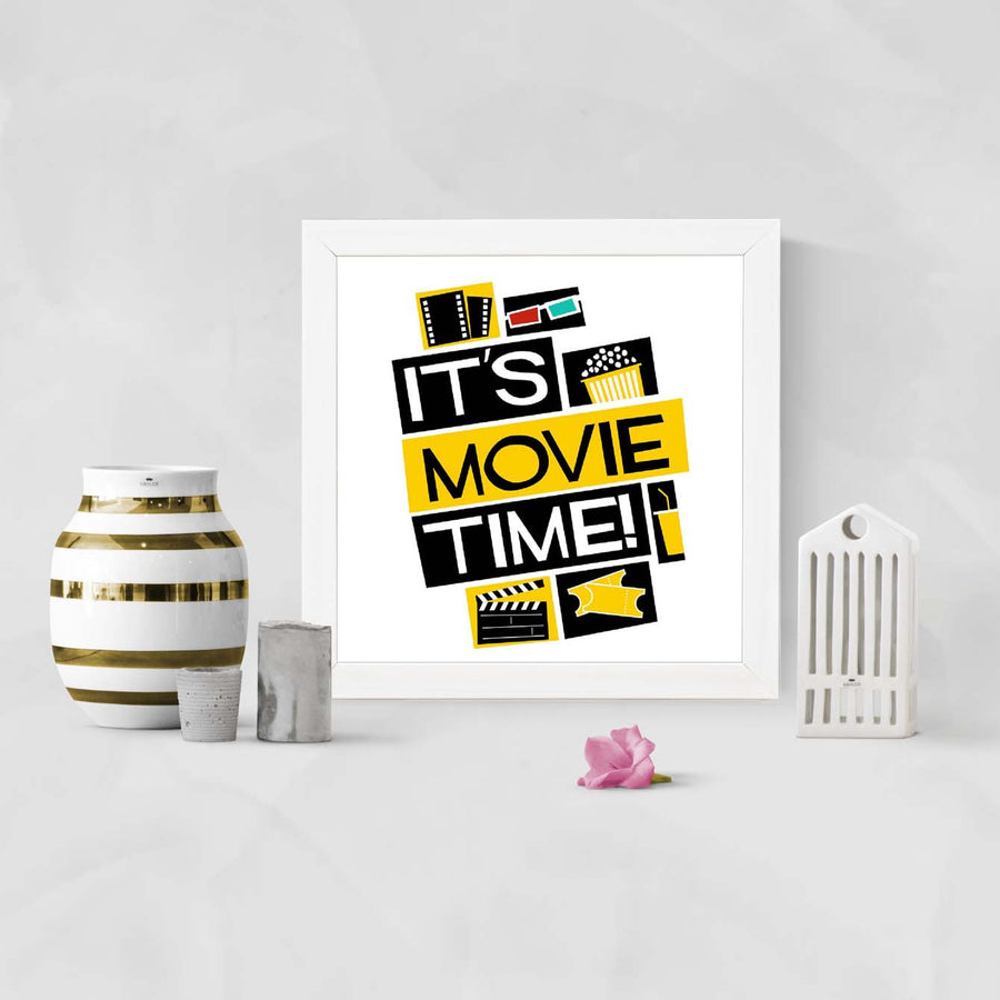 It's Movie Time Framed Poster