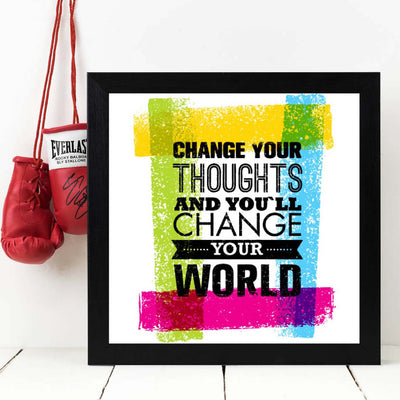 Change Your Thoughts Framed Poster