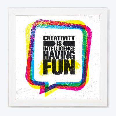 Having Fun Motivational Glass Framed Posters & Artprints