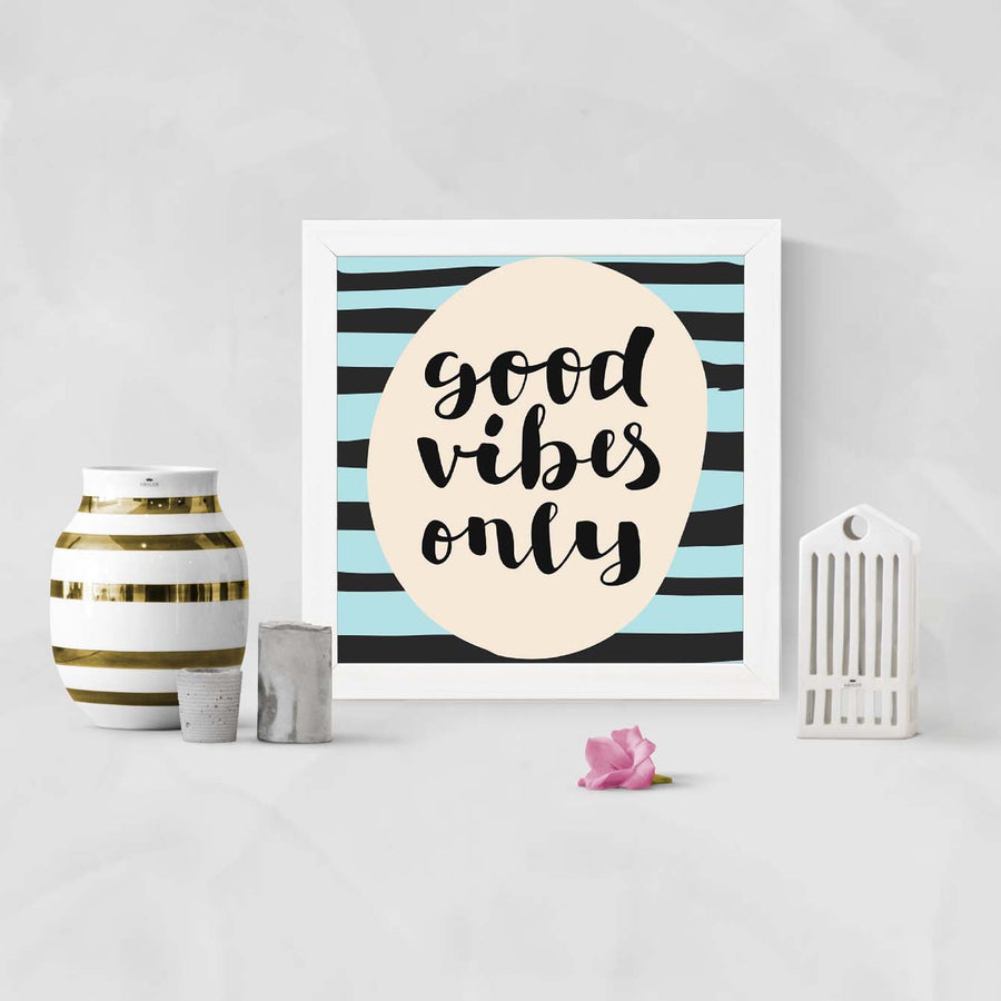 Good Vibes only Framed Poster
