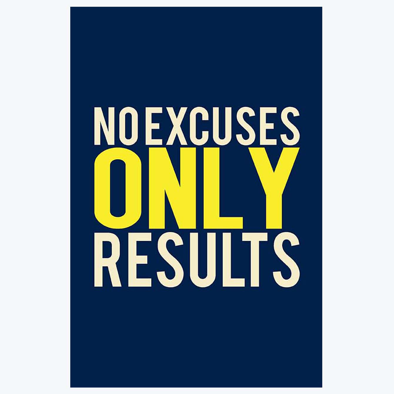 No Excuses Motivational Posters