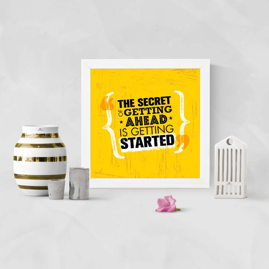 Getting Started Framed Poster