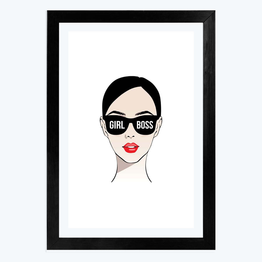 Girl Boss Framed Poster