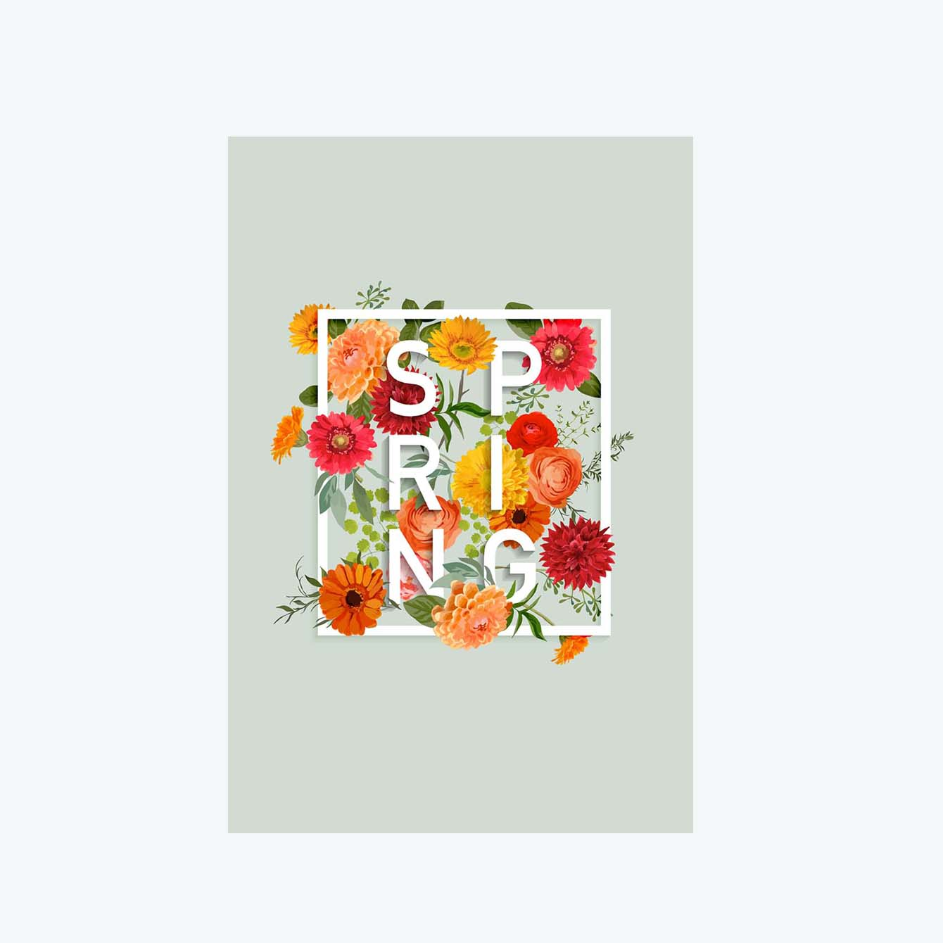 Spring Flower Post Cards Online