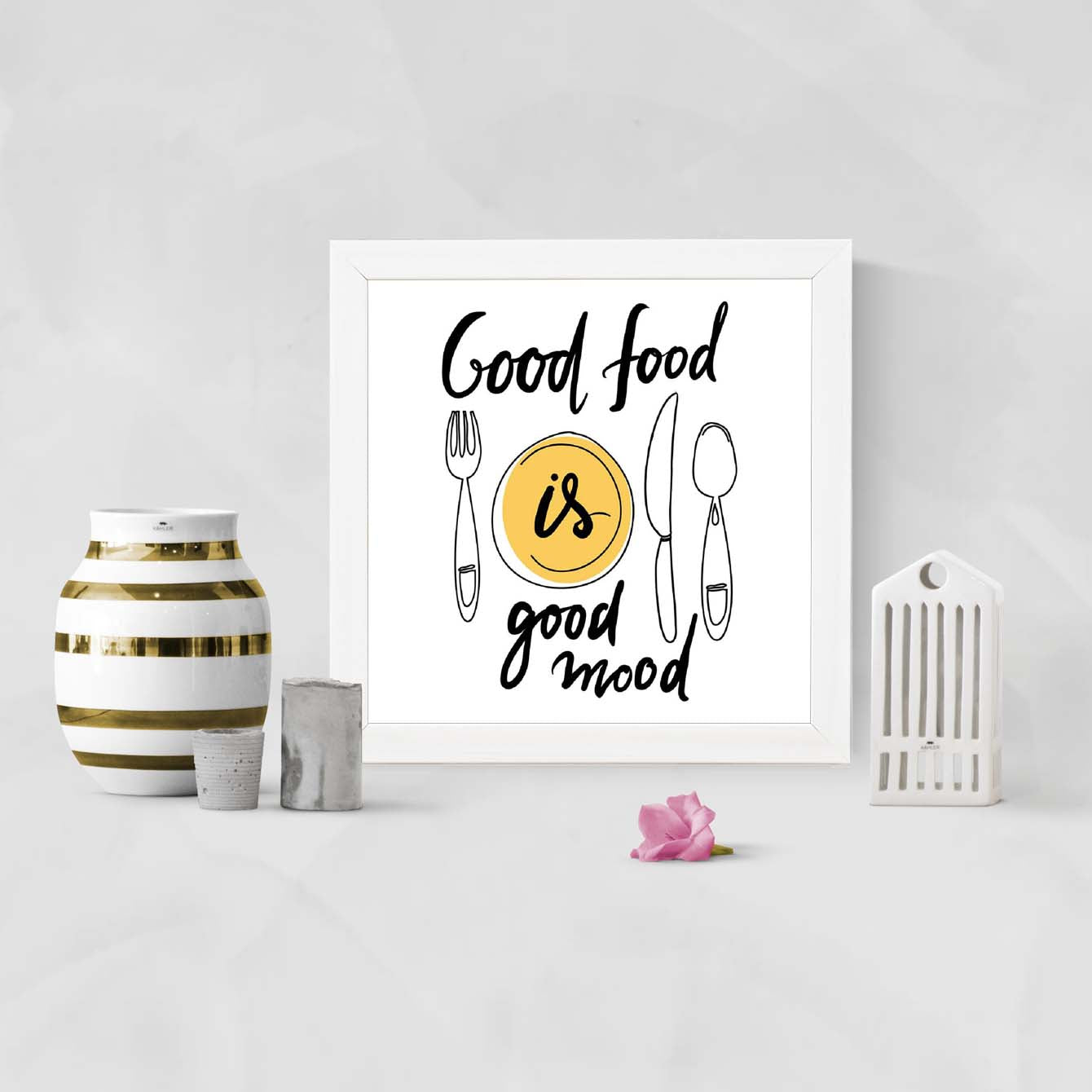 Good Food Food Glass Framed Posters & Artprints