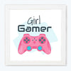 Girl Gamer Feminist Glass Framed Posters & Artprints