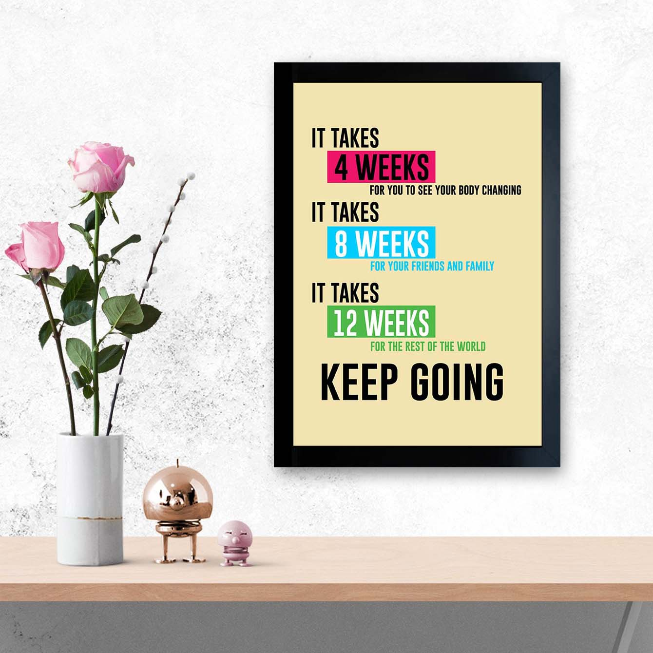 Keep Going Framed Poster