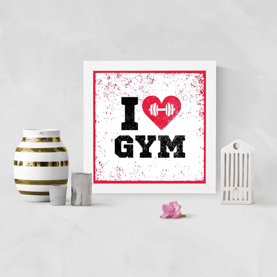I Love Gym Framed Poster