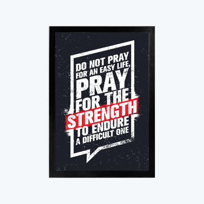 Strength Framed Poster