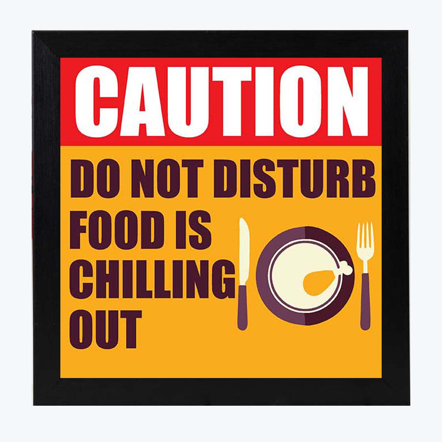 Food is Chilling  Framed Poster