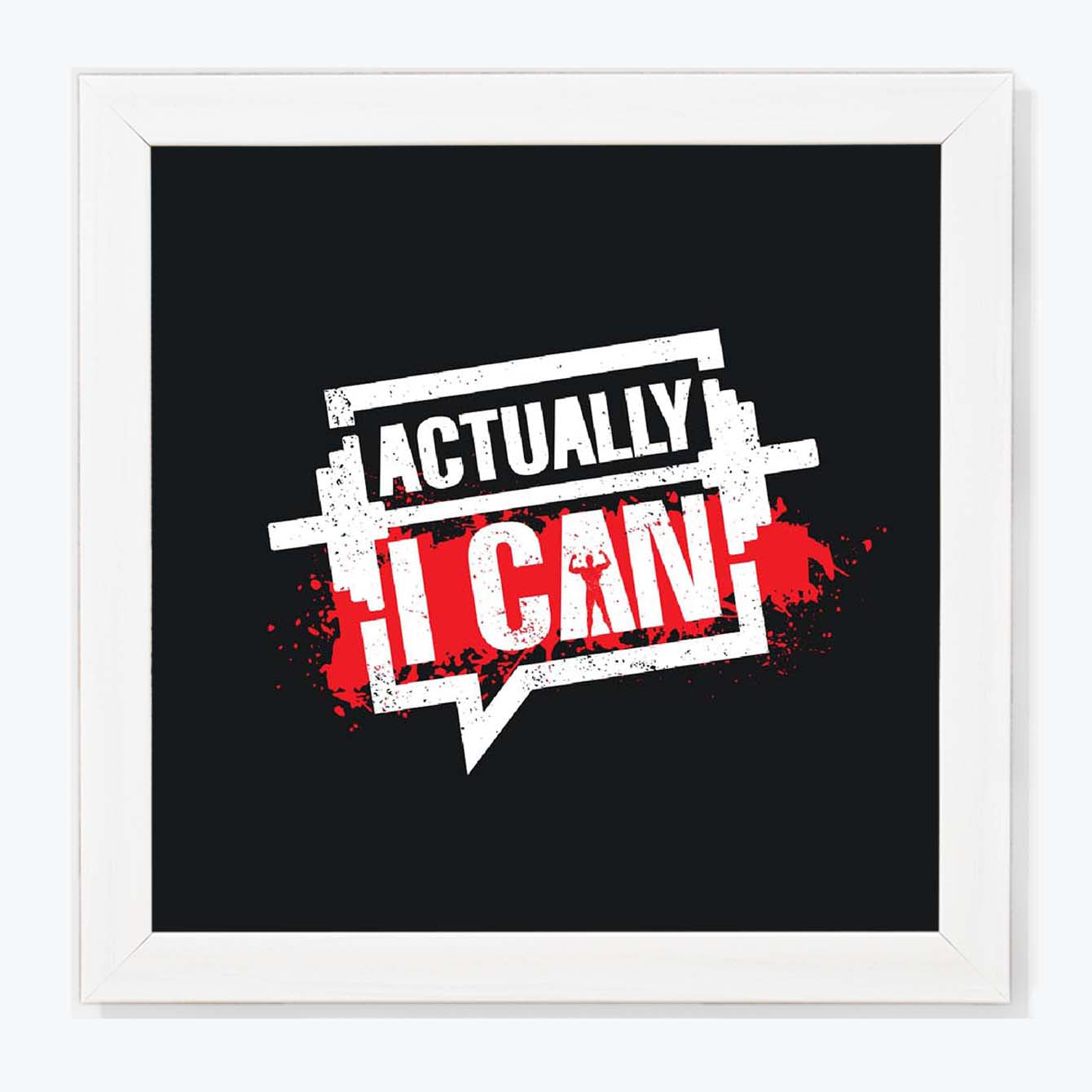 Actually I can Framed Poster