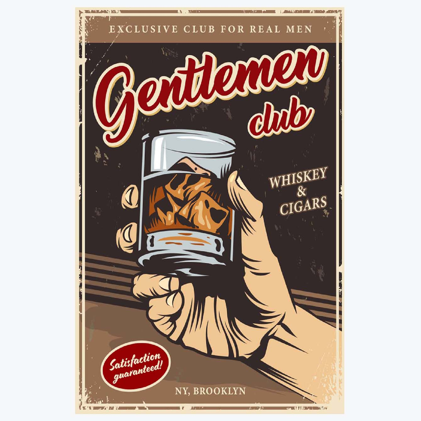 Gentleman club Alcohol Posters
