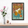 Fresh bear Alcohol Glass Framed Posters & Artprints