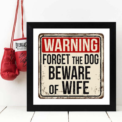 Warning Framed Poster