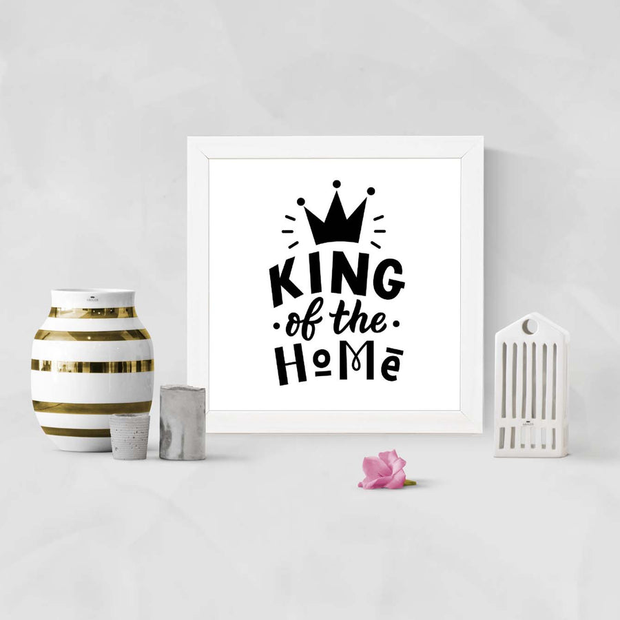 King of the home Framed Poster
