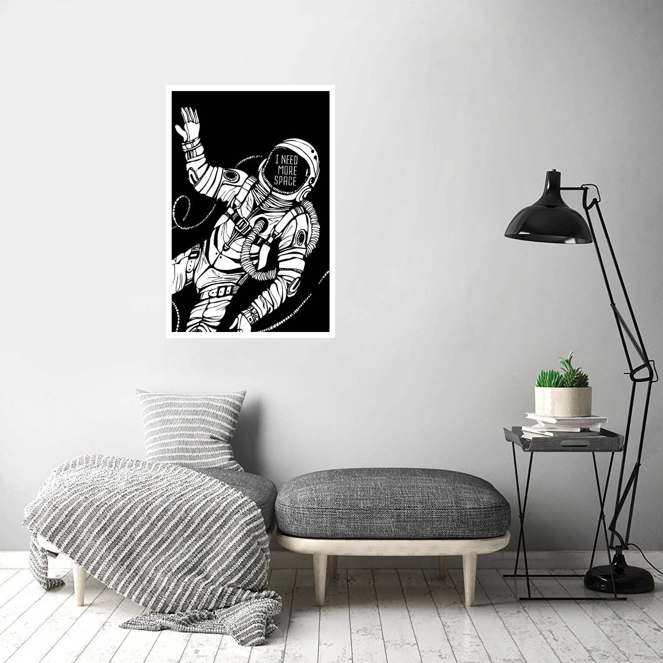 I need more space Humour Posters