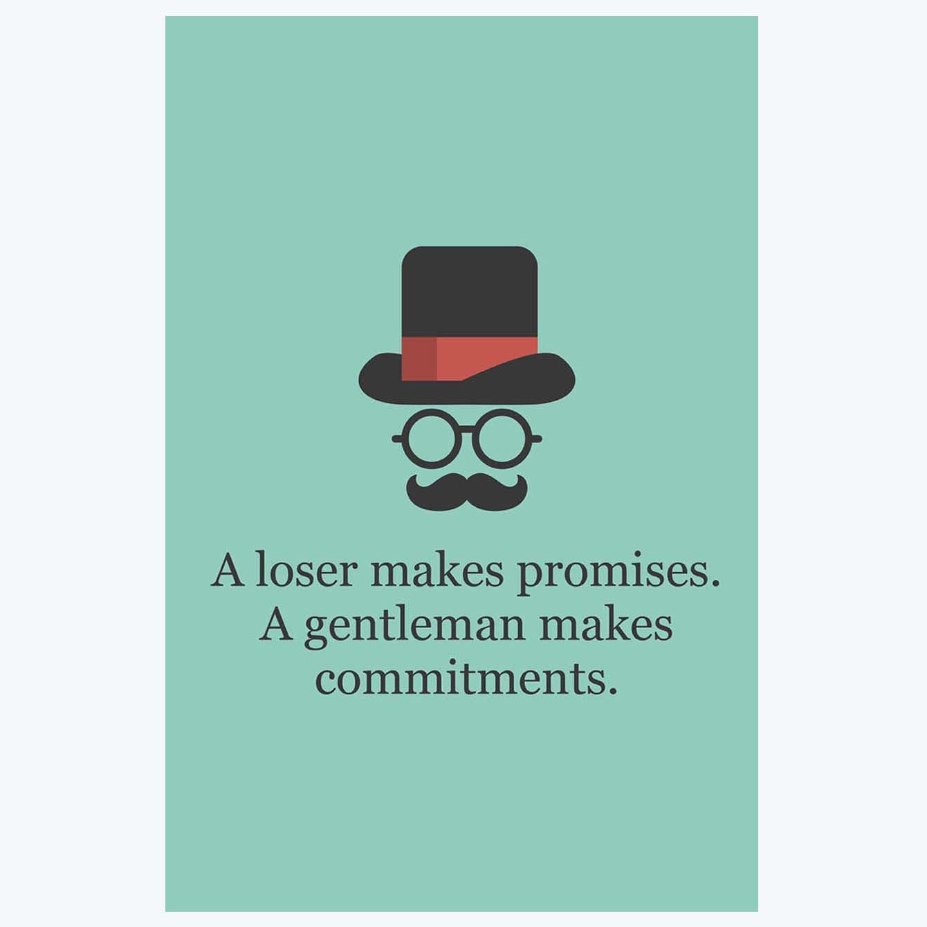 A loser make promise Humour Posters
