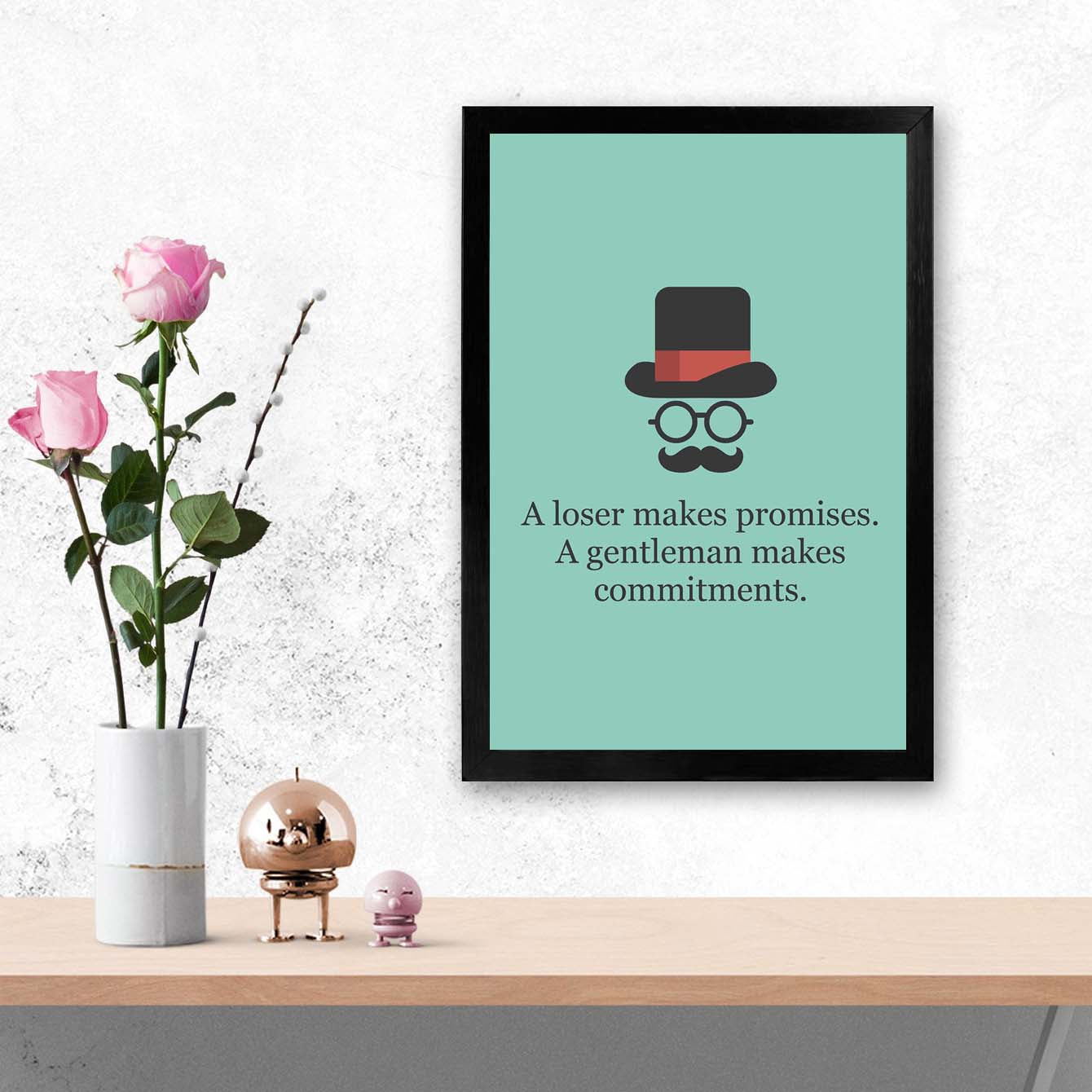 A loser make promise Framed Poster
