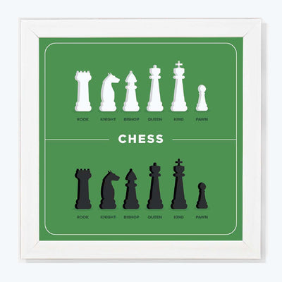 Chess Humour Glass Framed Posters & Artprints