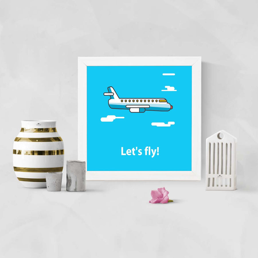 Lets fly Framed Poster
