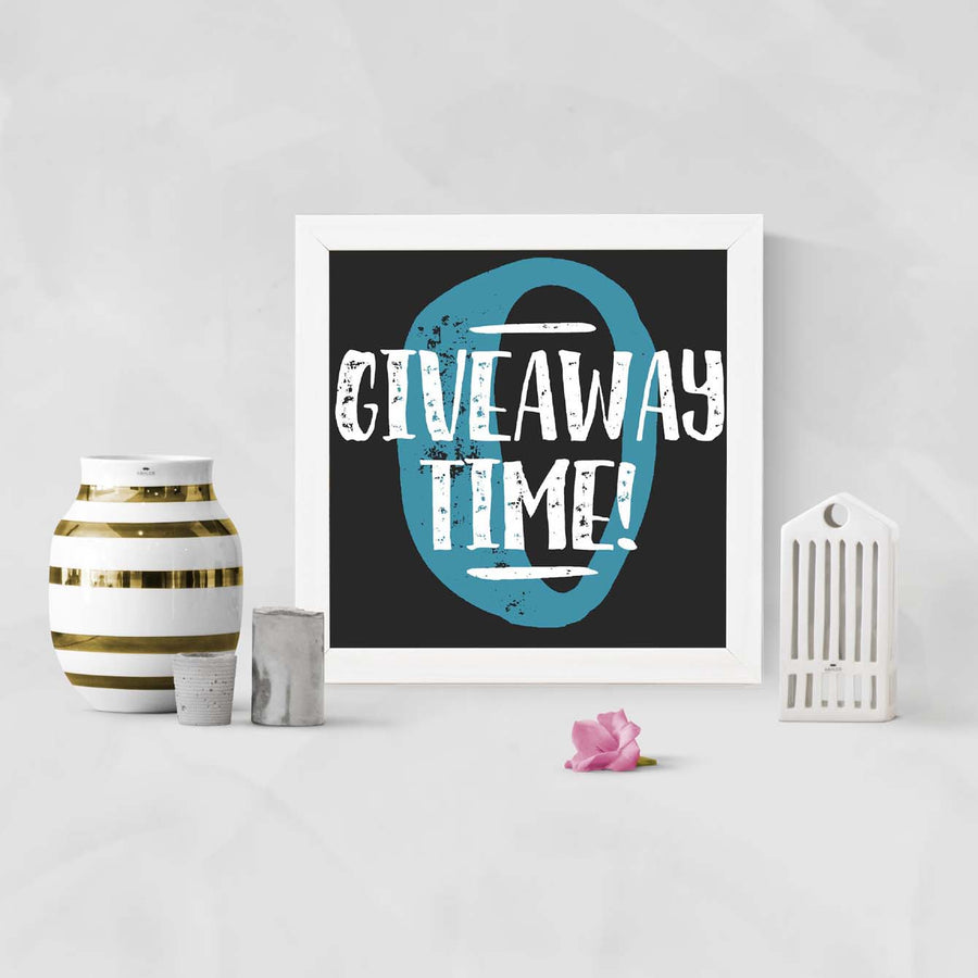 Give away time Framed Poster