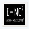 E=MC2 Humour Glass Framed Posters & Artprints