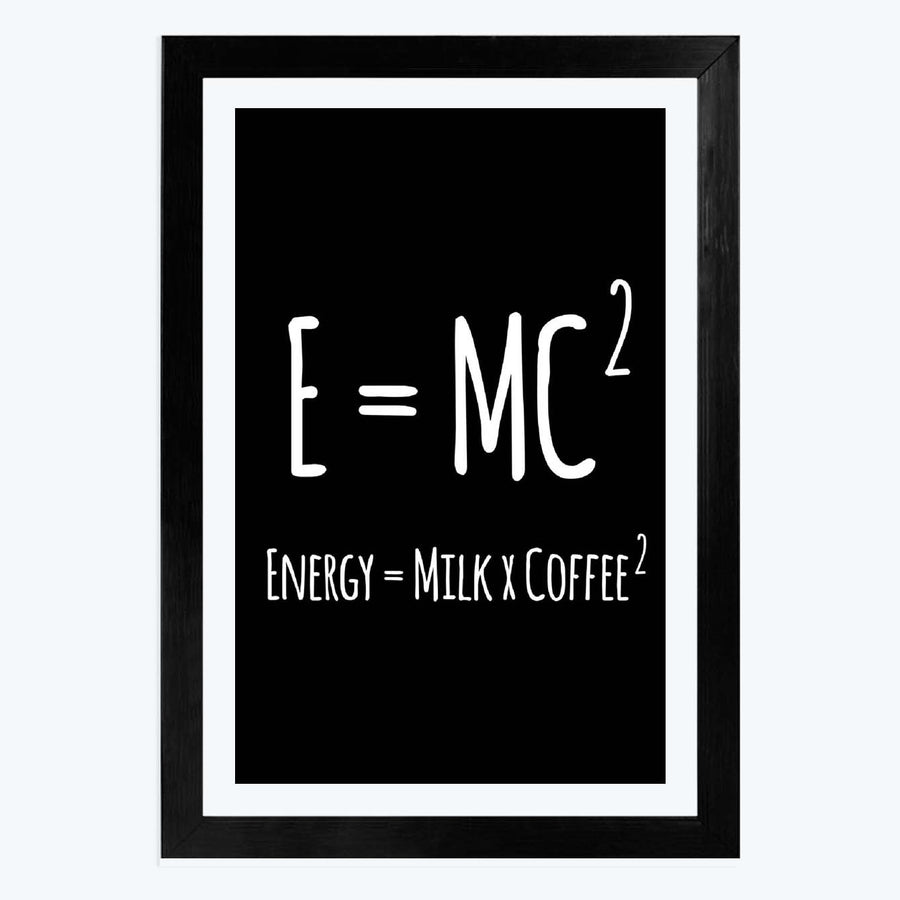 E=MC2 Framed Poster