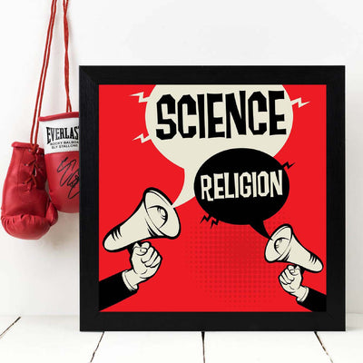 Science religion Framed Poster