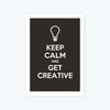 Keep calm and get creative Framed Poster