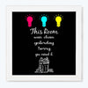 Room Clean Comic Glass Framed Posters & Artprints