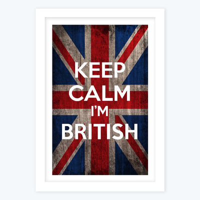 Keep calm its British Framed Poster