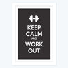 Keep calm and work hard Framed Poster