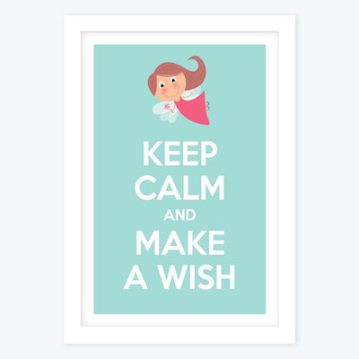 Keep calm and make a wish Framed Poster