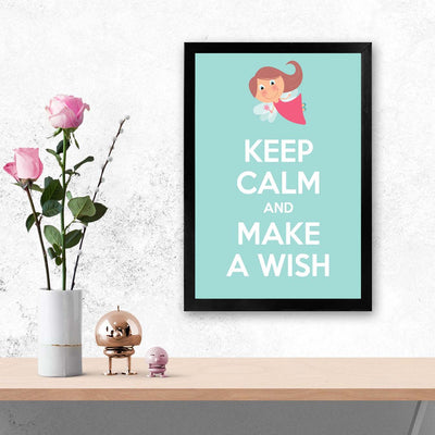 Keep calm and make a wish Keep Glass Framed Posters & Artprints