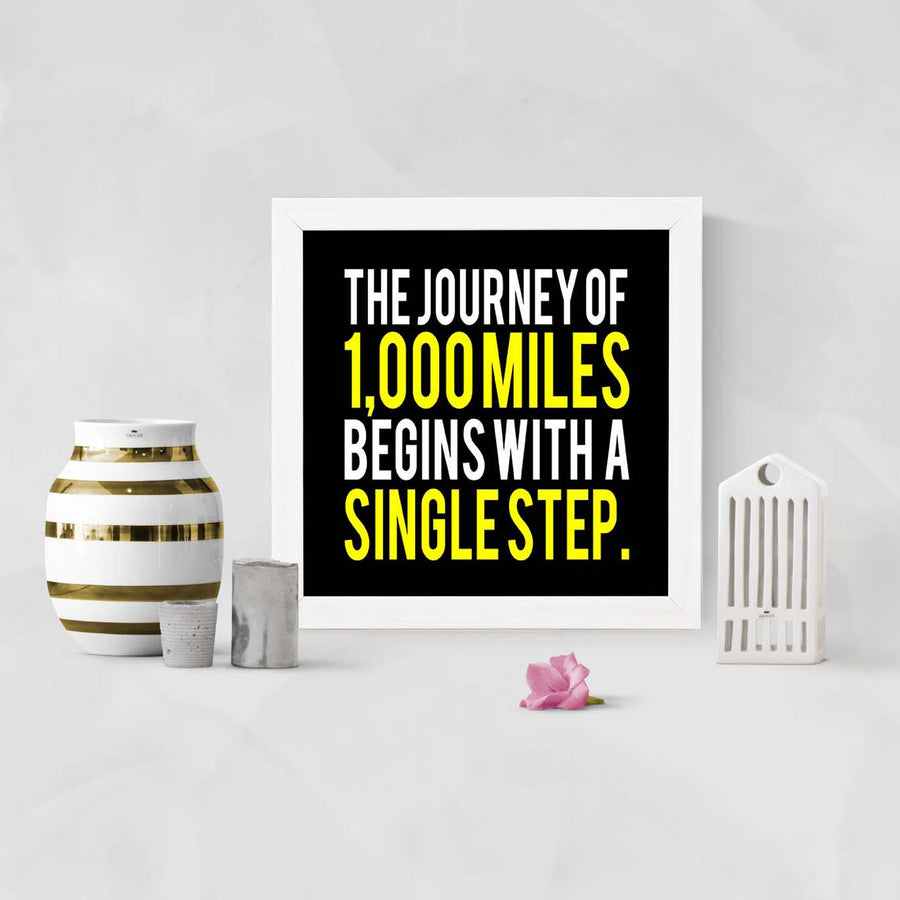 Single Step Framed Poster