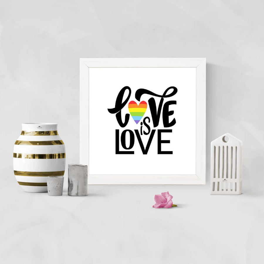 Live is love Framed Poster