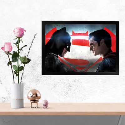 Dawn of Justice Comic Glass Framed Posters & Artprints