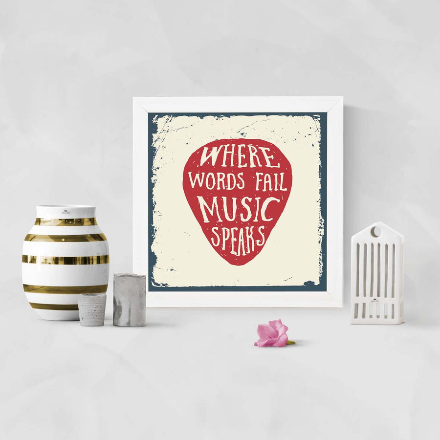 Word fail music speak Framed Poster