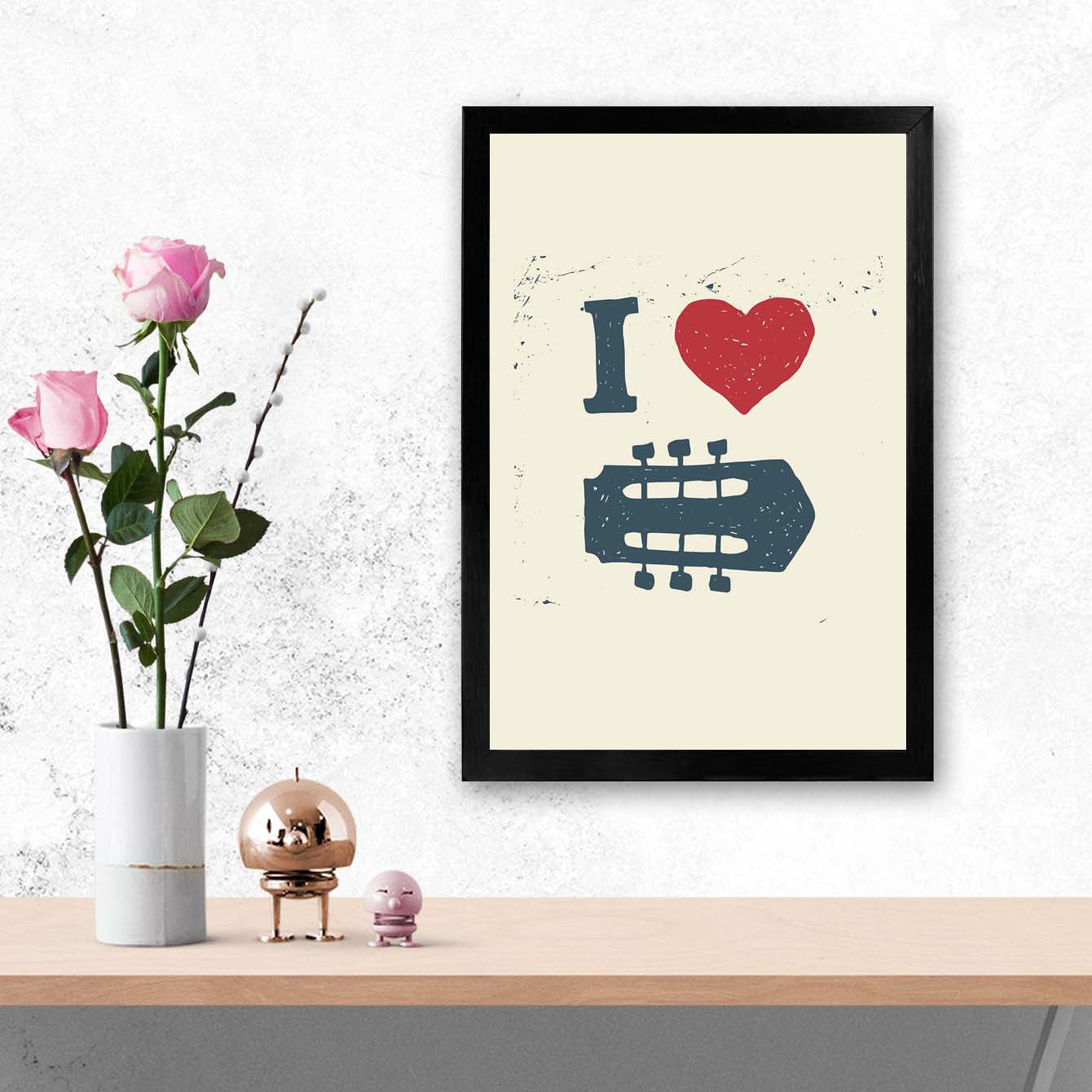 I Luv Music Framed Poster