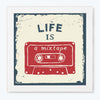 Life is a mistake Music Glass Framed Posters & Artprints