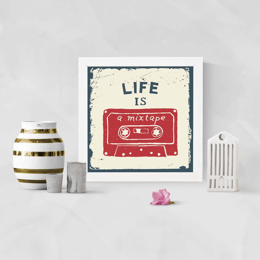 Life is a mistake Framed Poster