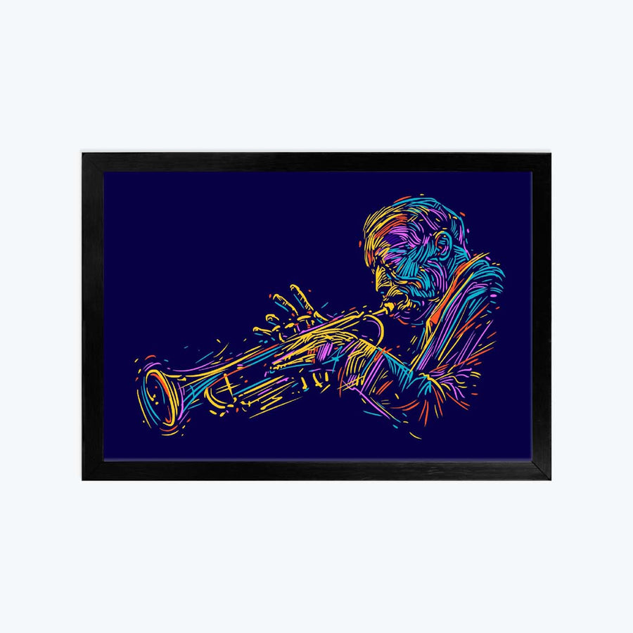 Jazz Trumpet Player Framed Poster